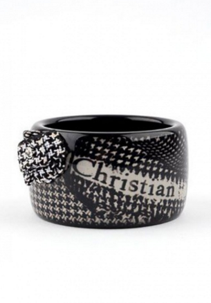 Christian Dior Vintage Houndstooth Lucite Cuff