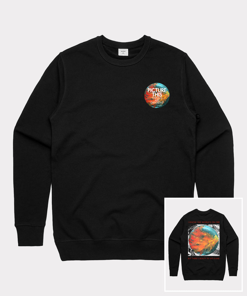 ' In the Flame' Black Sweatshirt