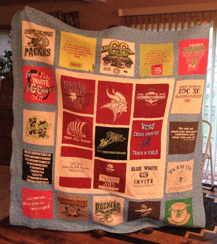 Valley City Vikings Tshirt Quilt
