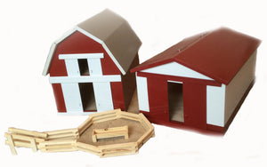 Wooden Toy Barns and Accessories
