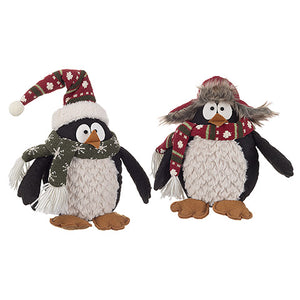 Fabric Penguin Decor: 6 x 7.09 inches, 2 Assorted Styles