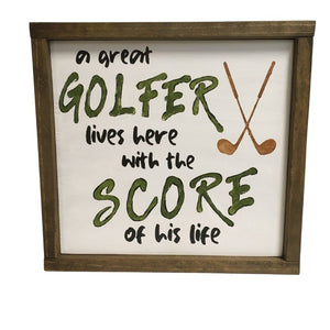 Golfer lives with Score of his life