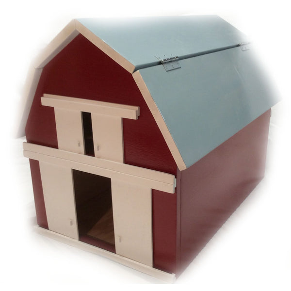 Wooden Toy Red Barn Toybox