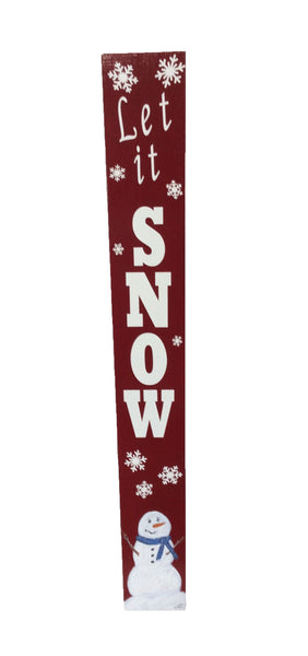 Rustic Welcome Porch Sign - Reversible Sign - Let it Snow