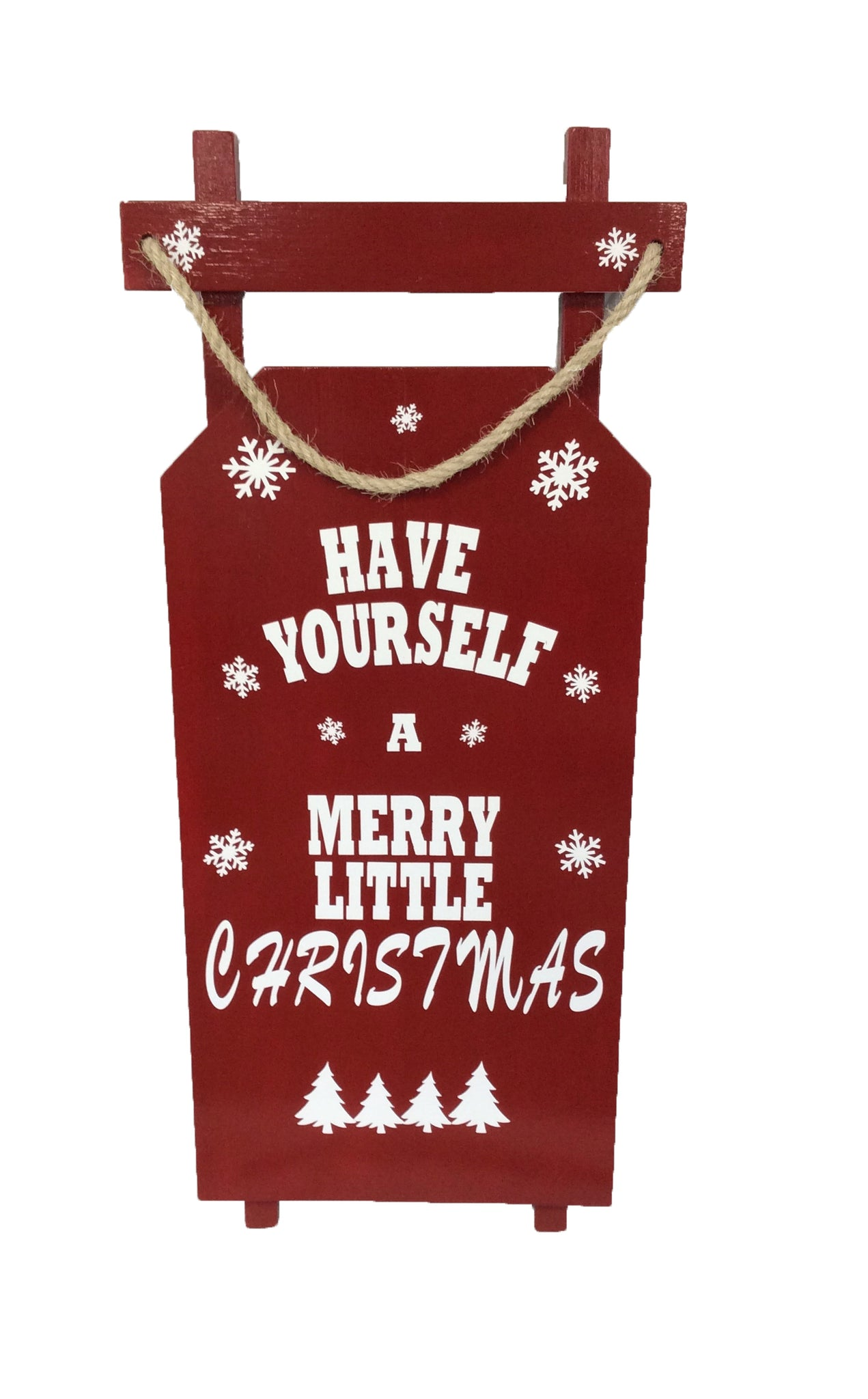 Rustic Have Yourself a Merry Little Christmas Sled