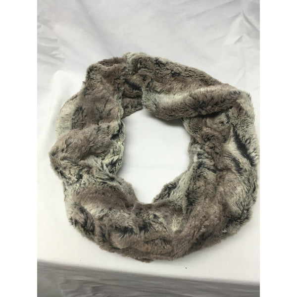 Minky Cuddle Grey Short Super Soft Infinity Scarf