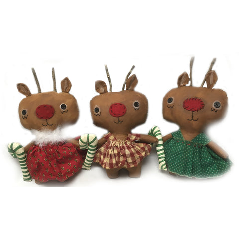 Robin Reindeer Fabric Dolls