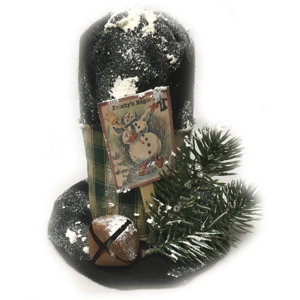 Magic Hat Christmas Rusty bell shelf sitter centerpiece