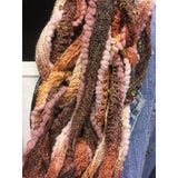 Hand knitted Arm Scarf in a varigated mix of rust, pink and browns