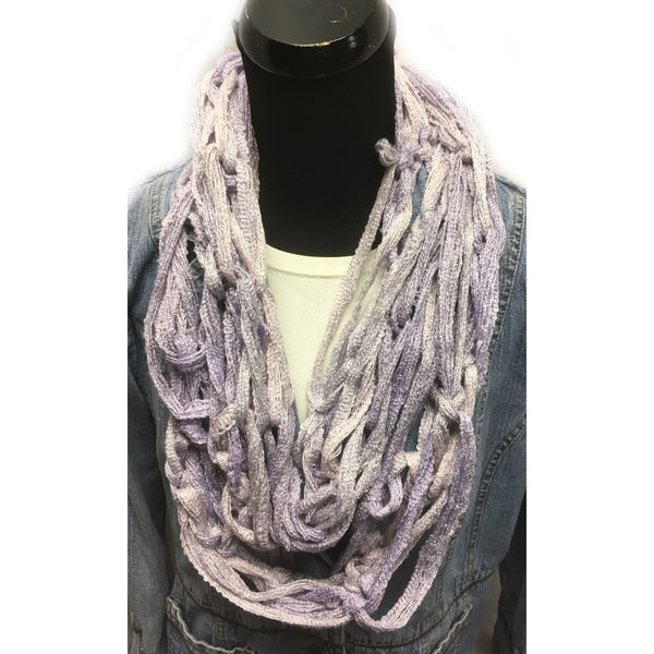Lavender Arm Hand knitted Infinity Scarf