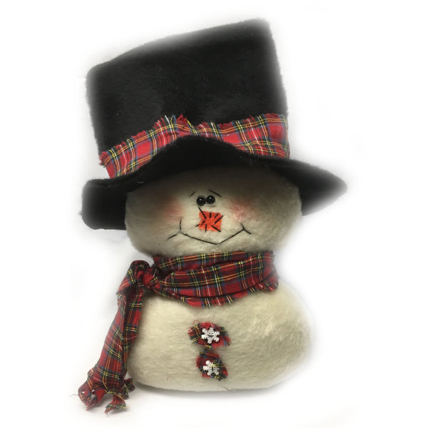Snowman Brando Plush Felt Shelf Sitter Decoration