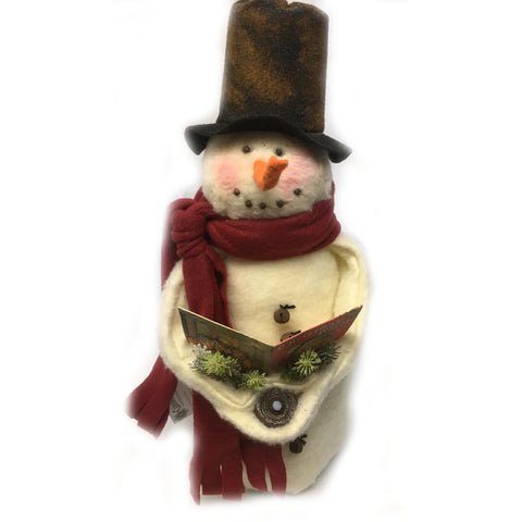 Caroling Snowman with Tea Light