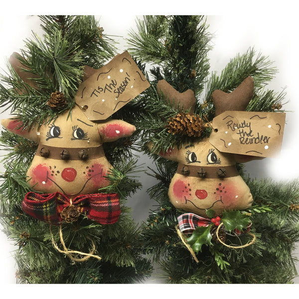 Rudy and Ruby Reindeer Ornaments