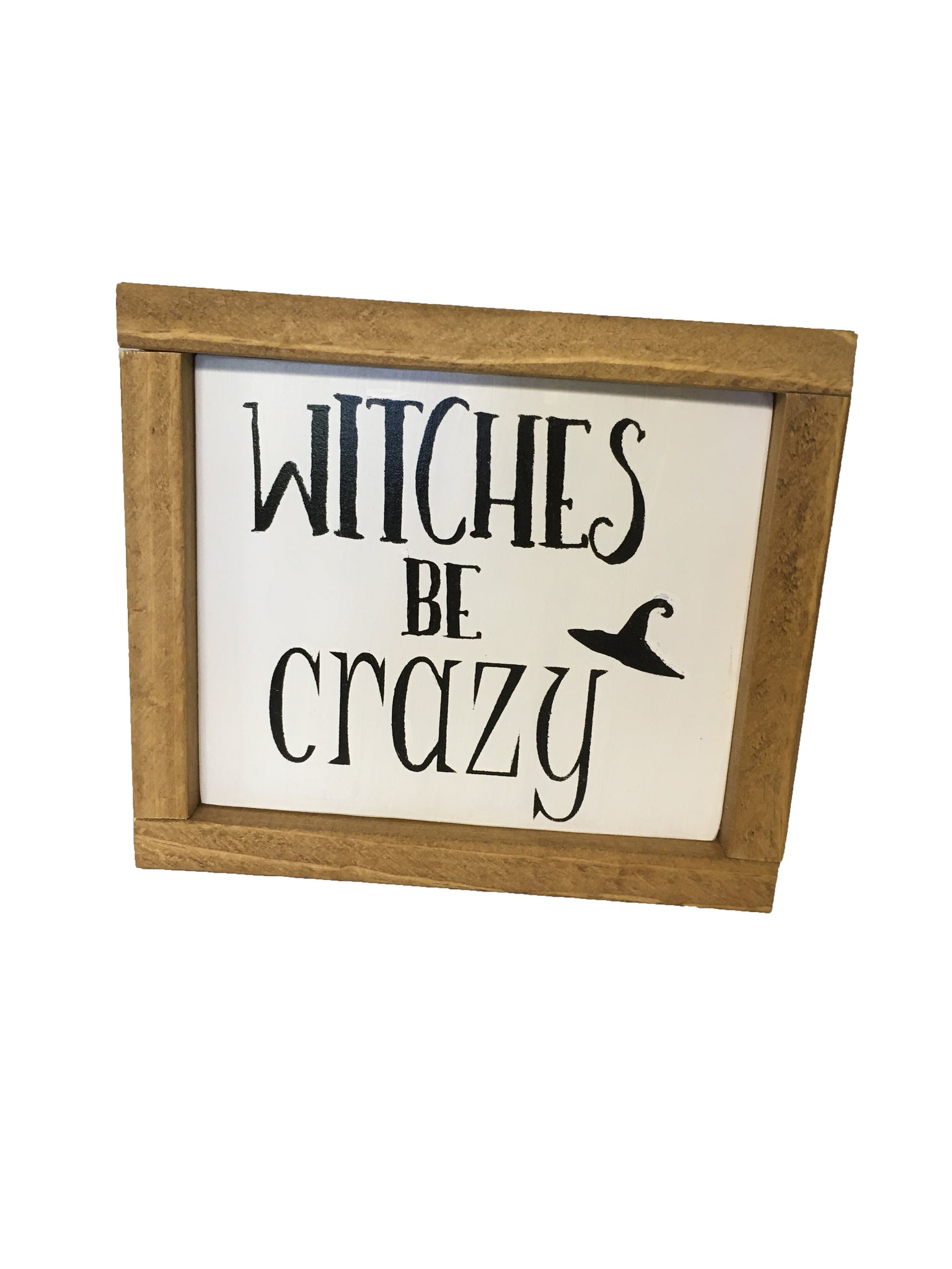 Witches Be Crazy Rustic Farmhouse Bathroom Sign, Halloween Decor