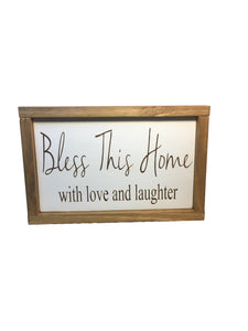 Rustic Bless this House sign - Family - Everyday decor - Gift