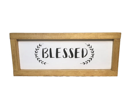 Rustic Blessed Sign - Farmhouse Blessed Sign - Inspirational Sign