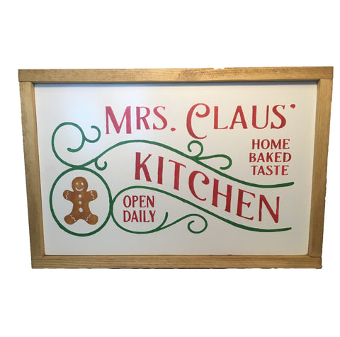 Mrs Claus* Kitchen Sign - Christmas - Holiday sign - Home Baked Goodies