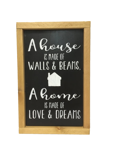 Rustic Farmhouse Sign - Family - Inspirational - Home - House