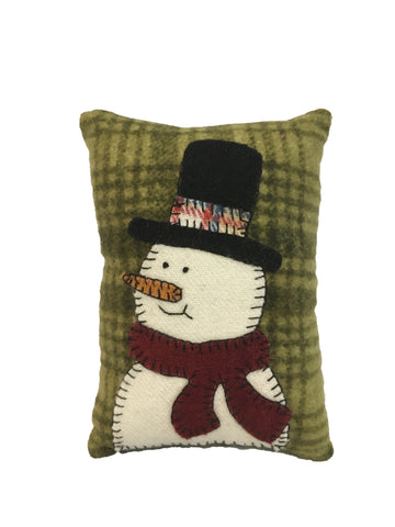 Tiny Snowman Pillow - Christmas Decor - Winter Decor -Who doesn't love pillows?
