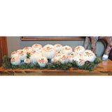Snowball Gathering Tabletop Centerpiece Shelf Sitter