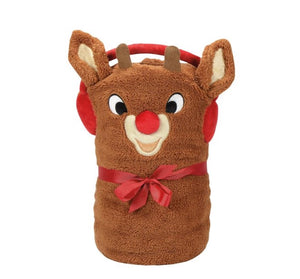 Department 56 Rudolph the Reindeer Plush Throw Blanket