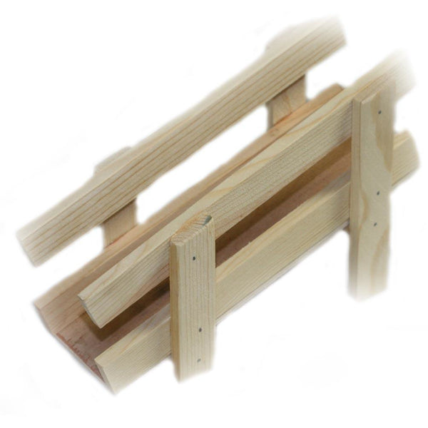 Wooden toy farm cattle chute