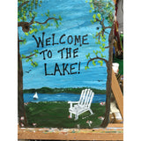 Welcome to the lake acrylic hand painted slate sign