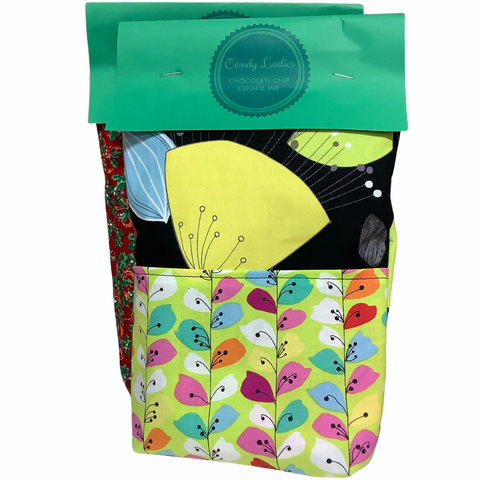Candy Ladies Chocolate Chip Cookie Mix in festive gift bag