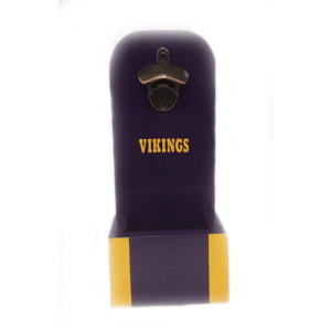 Wall Mounted Wooden Bottle Opener in custom Sports Team Colors
