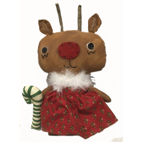 Robin Reindeer Cloth Doll