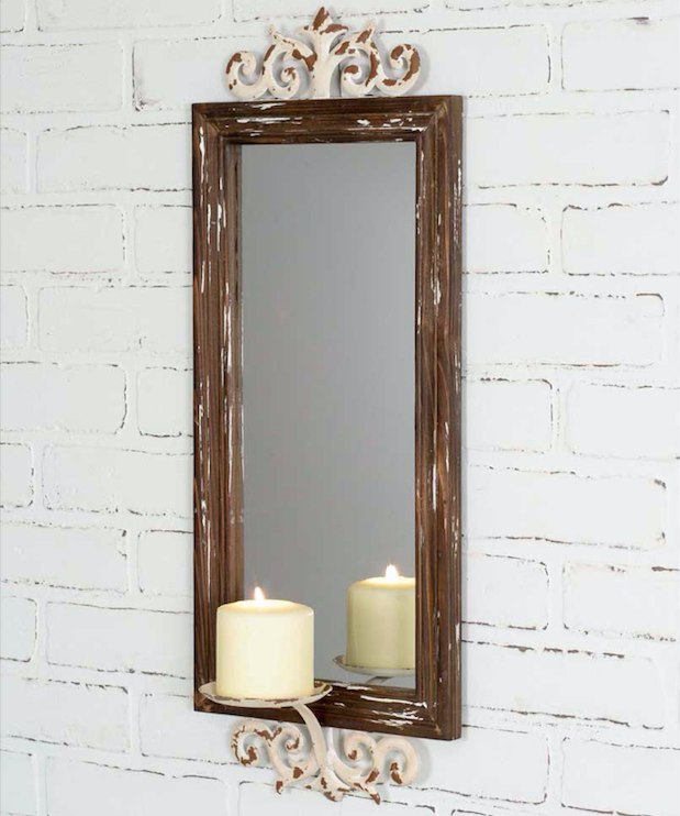 Attractive Chateau Mirror with Candle Sconce OR32