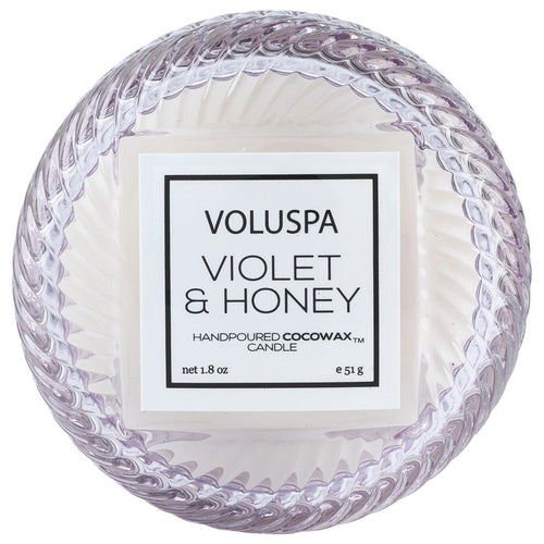 Violet and Honey Macaron Candle