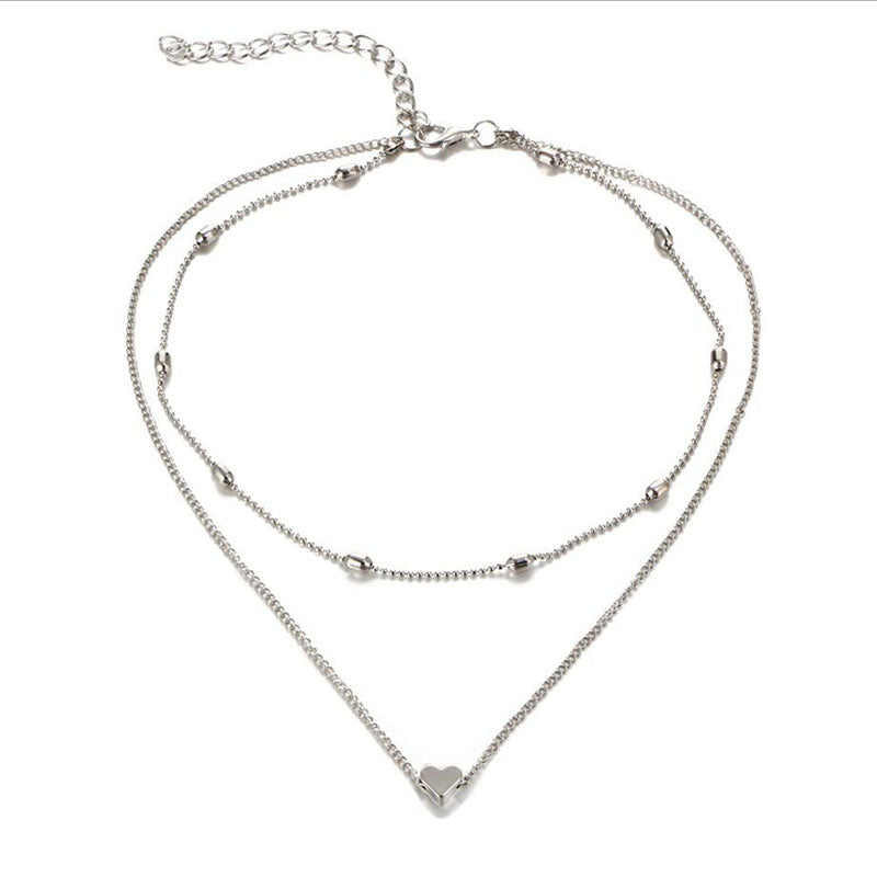 LUVEE | Luxury Double Necklace | SILVER