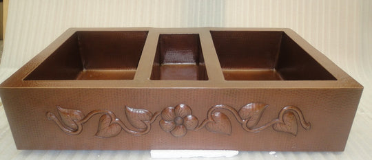 Triple Bowl Copper Kitchen Sinks