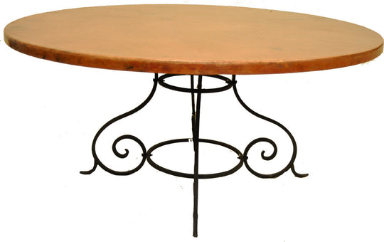 Round Copper Table Tops