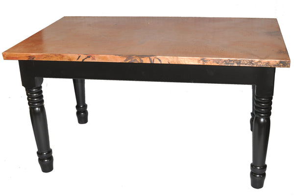 "35"" x 50"" Rectangular Copper Table Top Hand Hammered (Various Colors)"