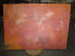 72 Inch Square Copper Table Top Hand Hammered (Various Colors)