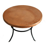 Round Copper Table Top, Natural