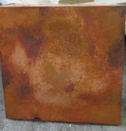 60 Inch Square Copper Table Top Hand Hammered (Various Colors)