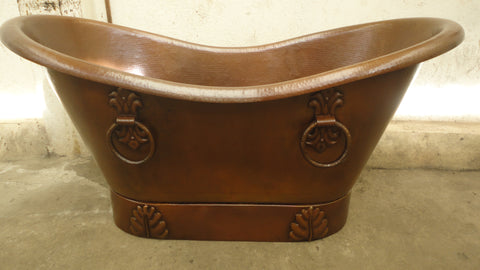 Copper Bath Tub with Design( Various Sizes, #CBT-DESIGN)