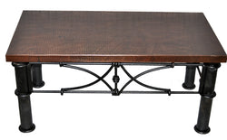 "36"" x 60"" Rectangular Copper Table Top Hand Hammered (Various Colors)"
