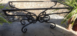 CLASSIC Design (Non Symmetric) - Wrought Iron Table Base Handmade for Coffee Tables, Dining Table, etc (Various Sizes, #TBAS_CLASSIC)