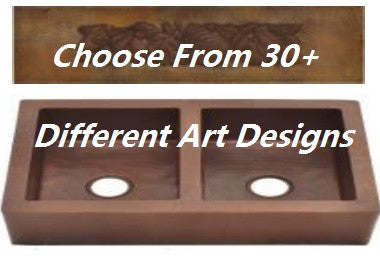 Double bowl farmhouse copper kitchen sink 5050 with arts multiple double bowl farmhouse copper kitchen sink 5050 with arts multiple designs and sizes workwithnaturefo