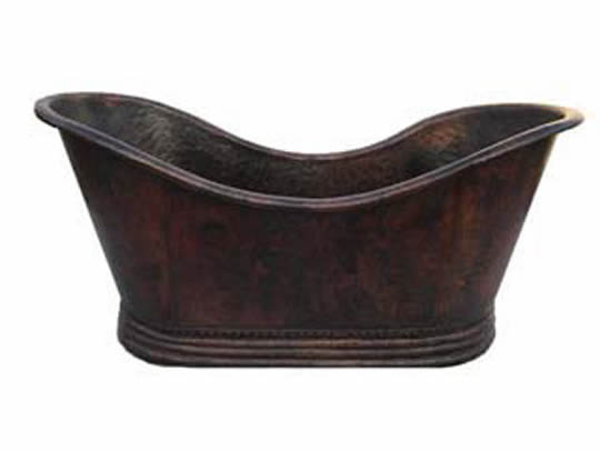 Copper Bath Tub Classic Wave Design ( Various Sizes, #CBT-CLASSICWAVE)
