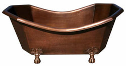 Handmade Copper Bath Tub Octagonal Clawfoot Design ( Various Sizes, #CBT-OCTAGONAL)