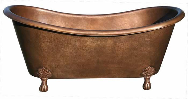 Handmade Copper Bath Tub Classic Clawfoot Design ( Various Sizes, #CBT-CLAWFOOT)
