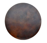 Round Copper Table Top, Dark Brown