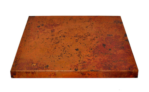 24 Inch Square Copper Table Top Hand Hammered (Various Colors)