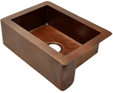 Copper Farmhouse Kitchen Sink Single Bowl( 22\