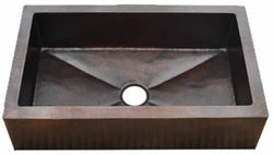 "Copper Farmhouse Sink Fernanda Design Single Bowl( 22"" to 36"" Various Colors, #CFS-FERNADA) )"